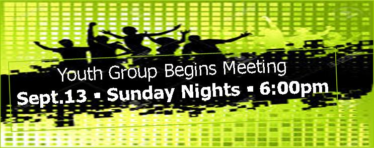 Youth Group Begins 2015