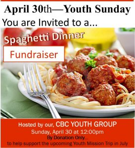 Yth Spaghetti Fundraiser
